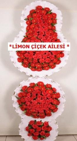 3 katlı kırmızı düğün açılış çiçeği  Manisa 14 şubat sevgililer günü çiçek