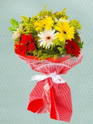 Karışık Gelbera Buketi  Manisa güvenli kaliteli hızlı çiçek