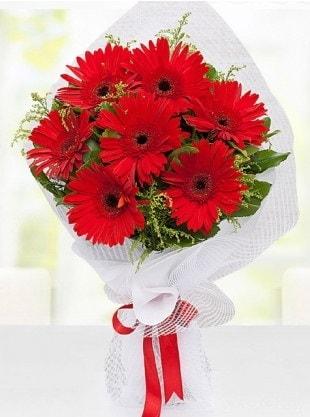 Kırmızı Gelbera Buketi  Manisa çiçek yolla , çiçek gönder , çiçekçi