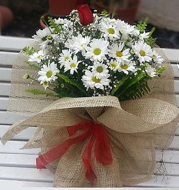 Papatya 1 adet kırmızı gül buketi  Manisa online çiçekçi , çiçek siparişi
