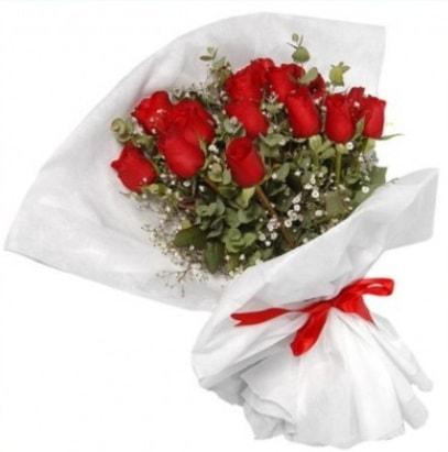 9 adet kırmızı gül buketi  Manisa kaliteli taze ve ucuz çiçekler