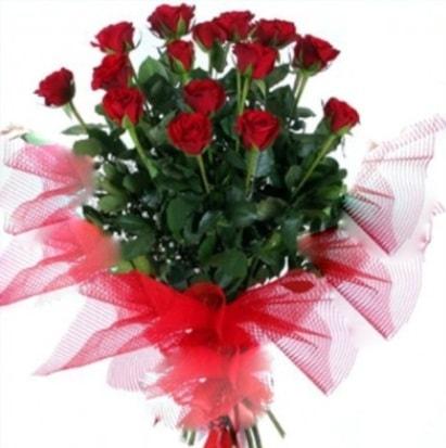 15 adet kırmızı gül buketi  Manisa çiçek yolla