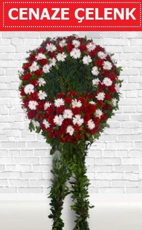 Kırmızı Beyaz Çelenk Cenaze çiçeği  Manisa cicek , cicekci