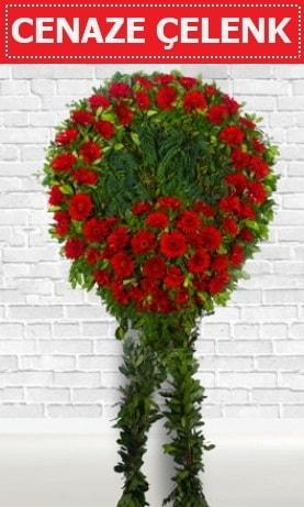 Kırmızı Çelenk Cenaze çiçeği  Manisa cicek , cicekci